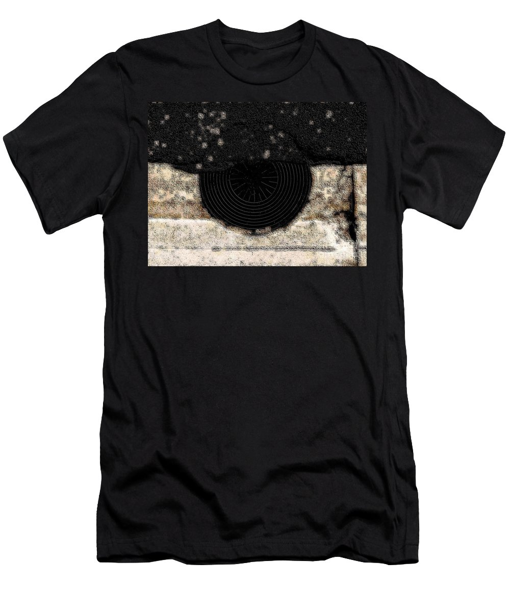 Abstract Men's T-Shirt (Athletic Fit) featuring the photograph The Sun With Its Rays by Fei A