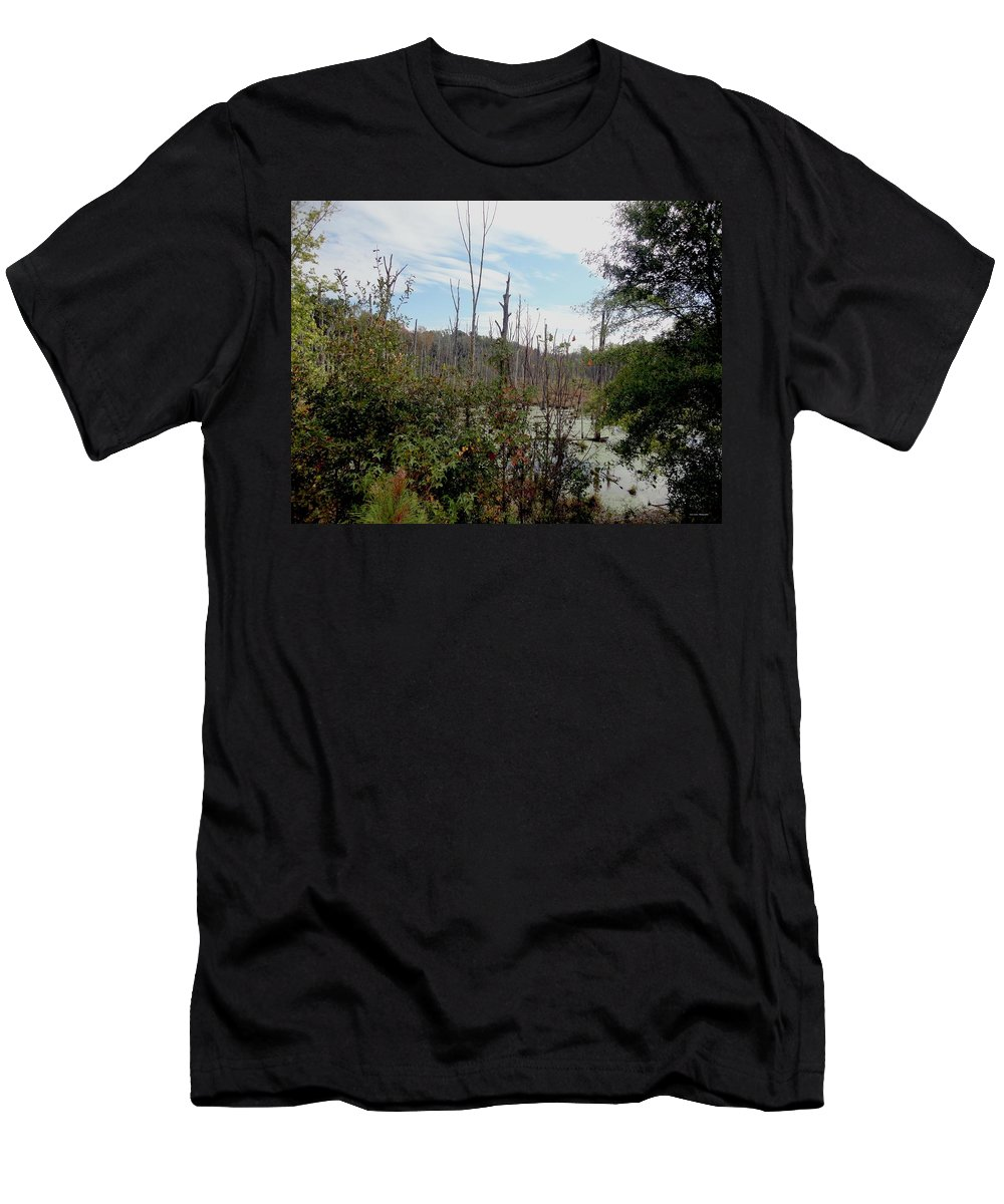 Swamp Men's T-Shirt (Athletic Fit) featuring the photograph The Swamp by Sara Evans