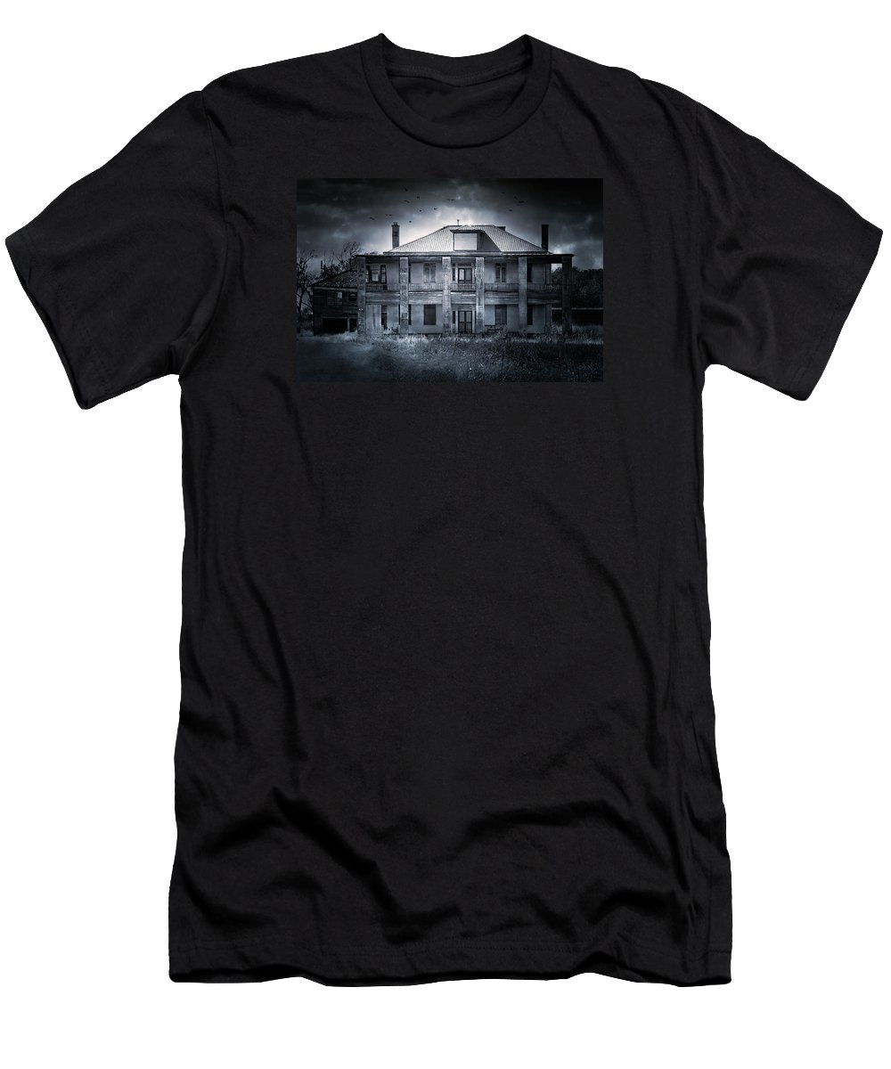 Abandoned Men's T-Shirt (Athletic Fit) featuring the photograph Tcm #9 by Trish Mistric