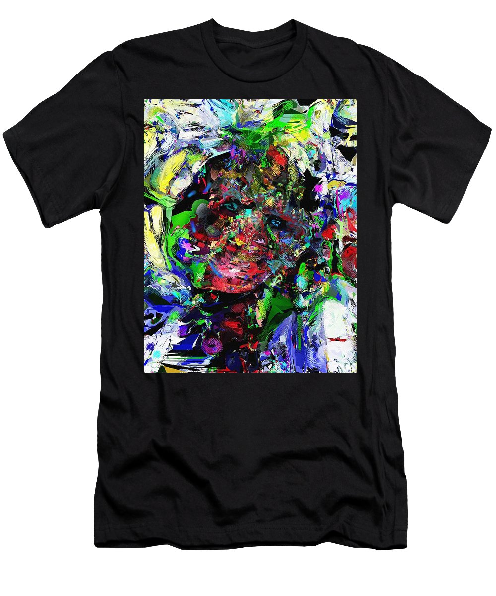 Fine Art Men's T-Shirt (Athletic Fit) featuring the digital art The Thinker by David Lane