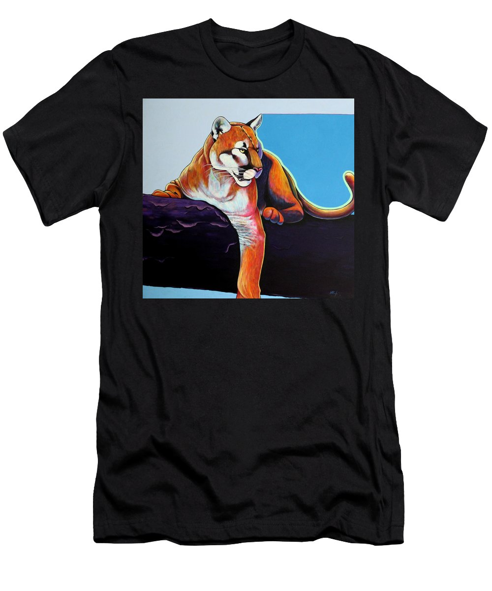 Wildlife Men's T-Shirt (Athletic Fit) featuring the painting The Toll Collector by Joe Triano