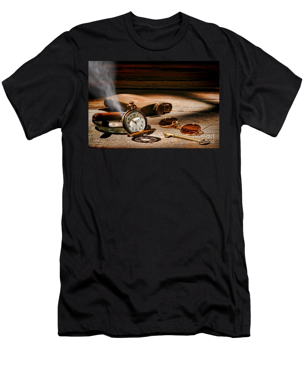 Traveler Men's T-Shirt (Athletic Fit) featuring the photograph The Traveler by Olivier Le Queinec