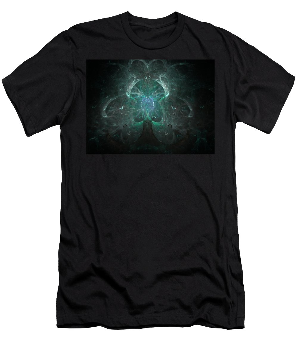 Fractal Men's T-Shirt (Athletic Fit) featuring the painting The Tree Of Life by Bruce Nutting
