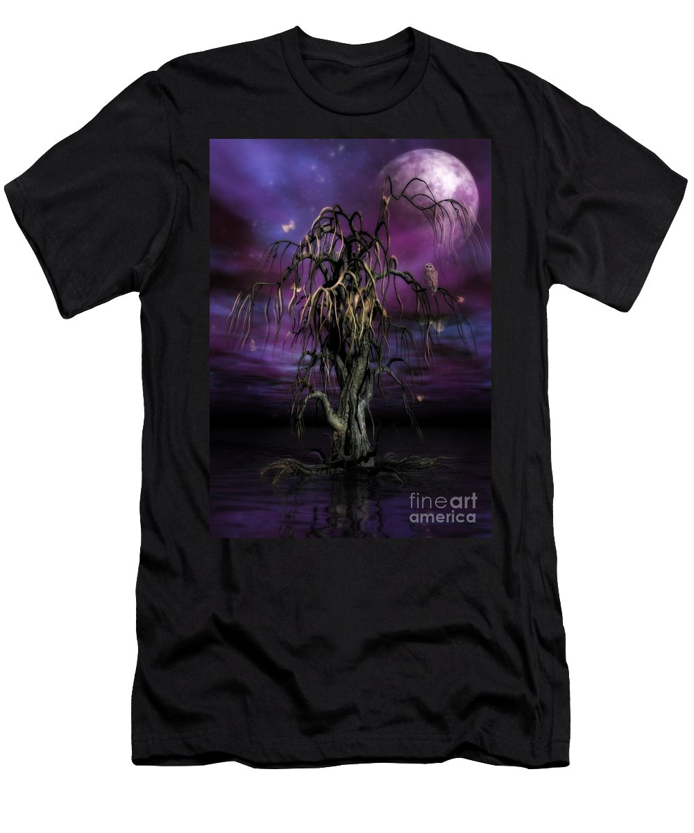 Tree Of Souls Men's T-Shirt (Athletic Fit) featuring the painting The Tree Of Sawols by John Edwards