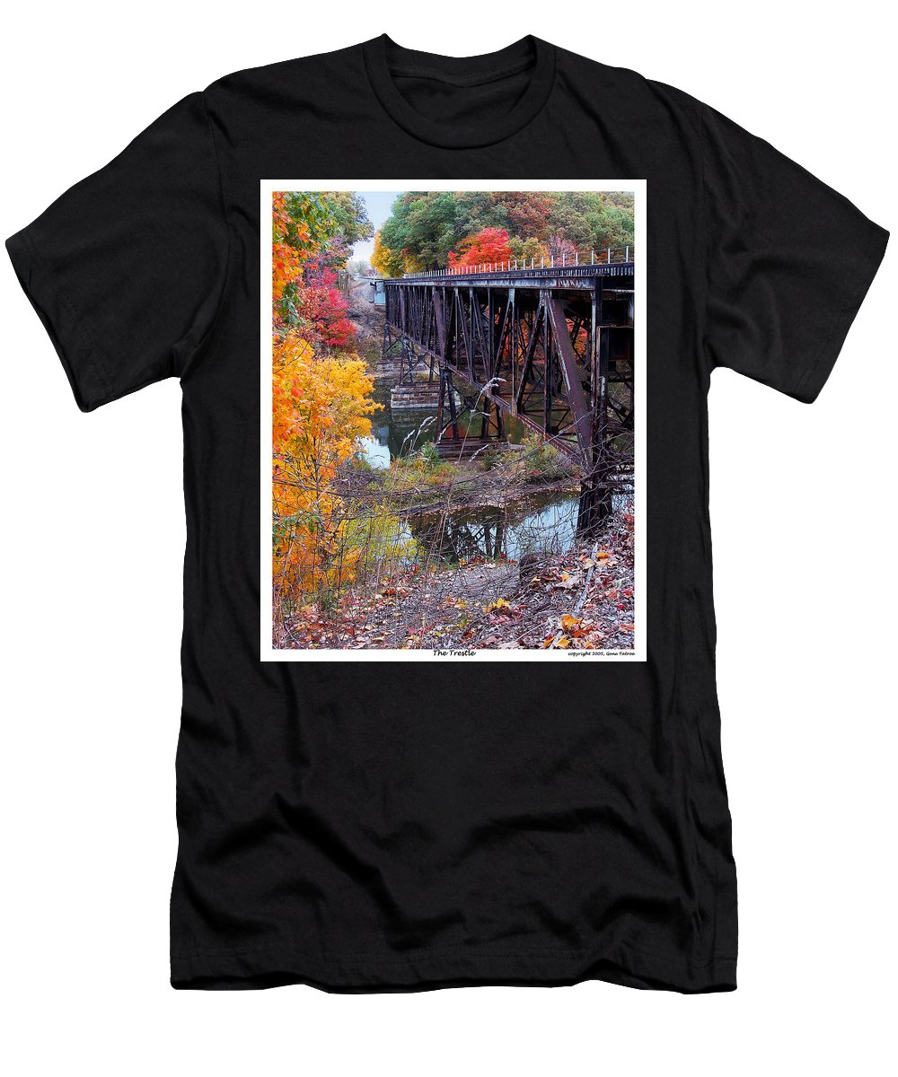 Trestle Men's T-Shirt (Athletic Fit) featuring the photograph The Trestle by Gene Tatroe