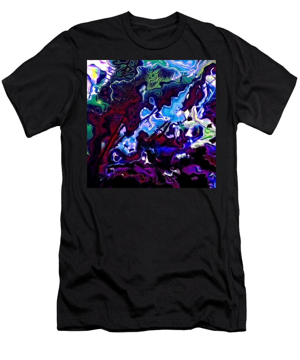 Abstract Men's T-Shirt (Athletic Fit) featuring the digital art The Tuneful Measure by Richard Thomas