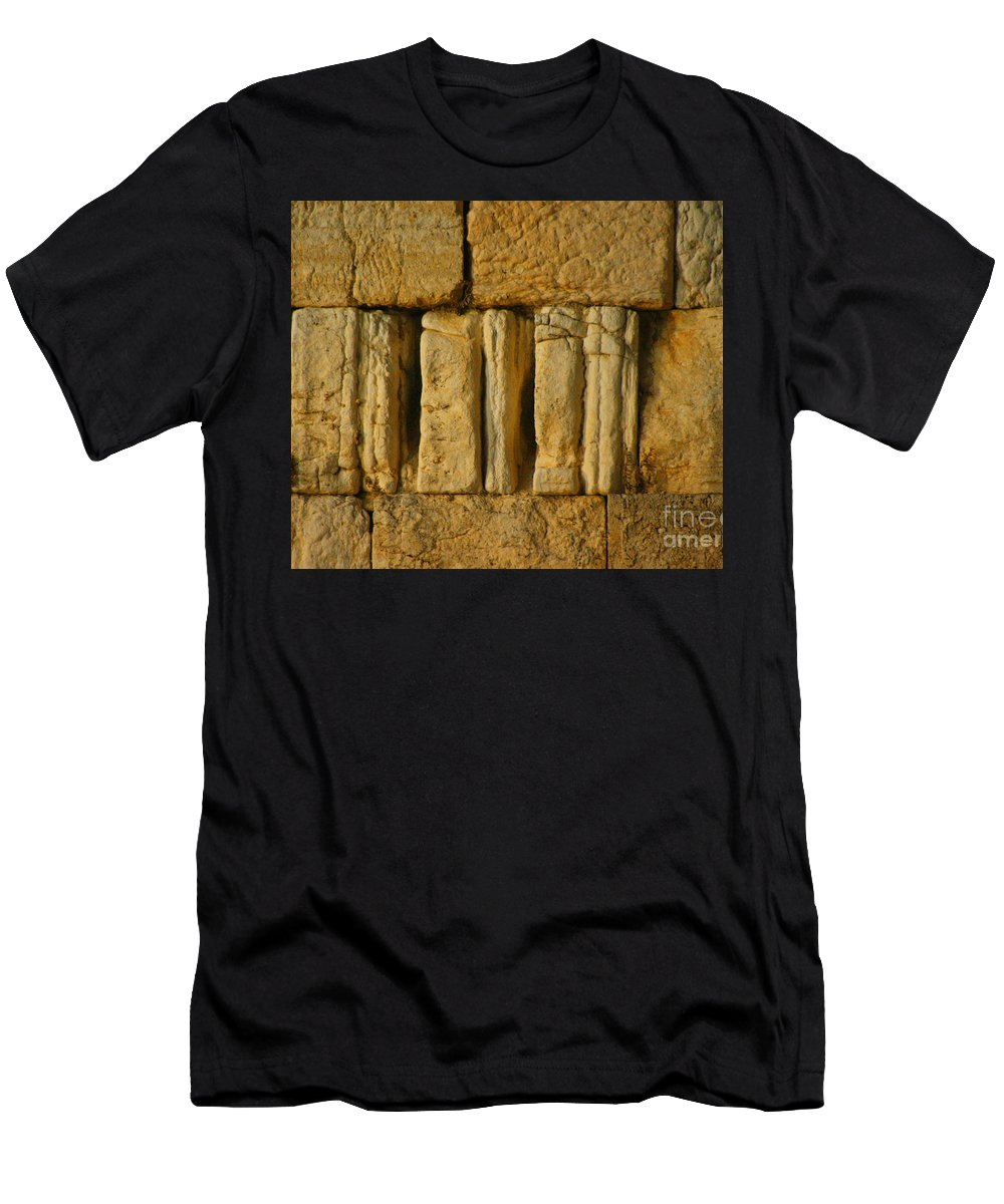 Israel Men's T-Shirt (Athletic Fit) featuring the photograph The Western Wall by Doc Braham