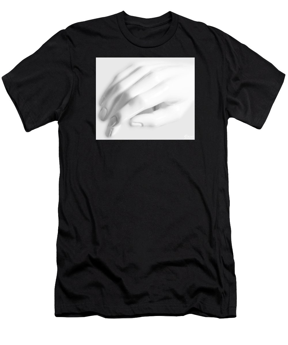 Statue Men's T-Shirt (Athletic Fit) featuring the photograph The White Hand by Tony Rubino