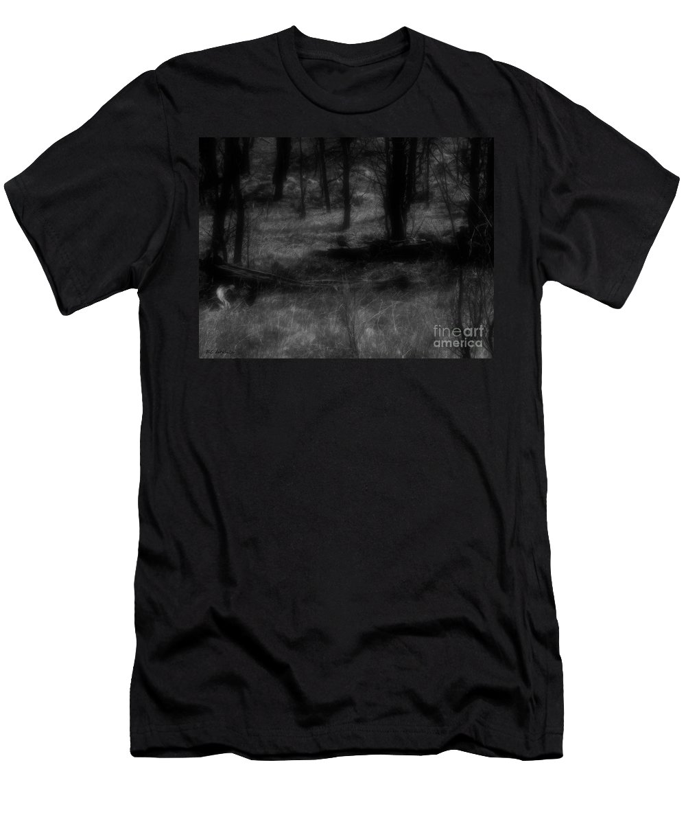 Colorado Men's T-Shirt (Athletic Fit) featuring the photograph The Woods Are Lovely Dark And Deep by RC DeWinter
