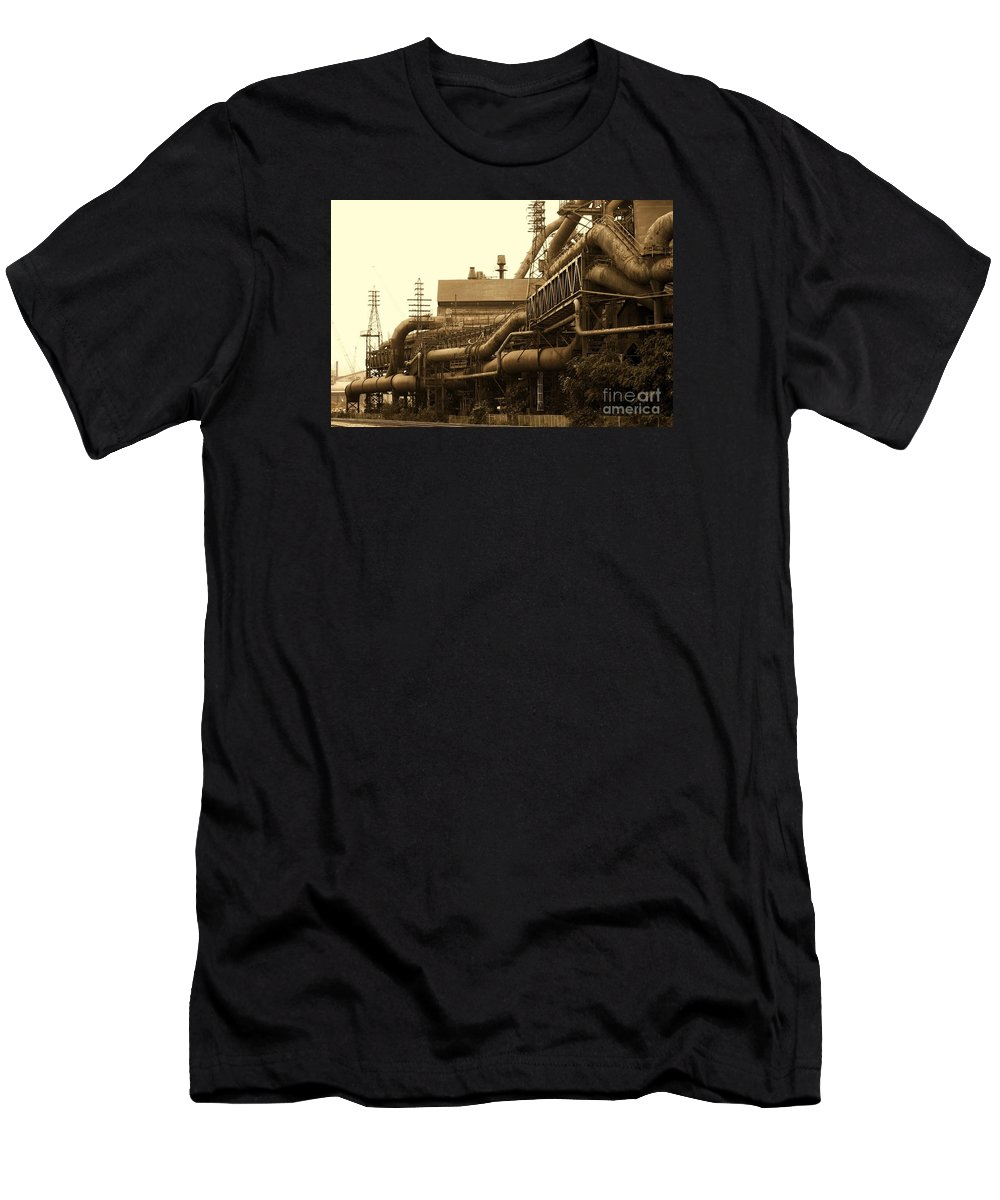Intustry Men's T-Shirt (Athletic Fit) featuring the photograph The Worm Passageways by Marcia Lee Jones