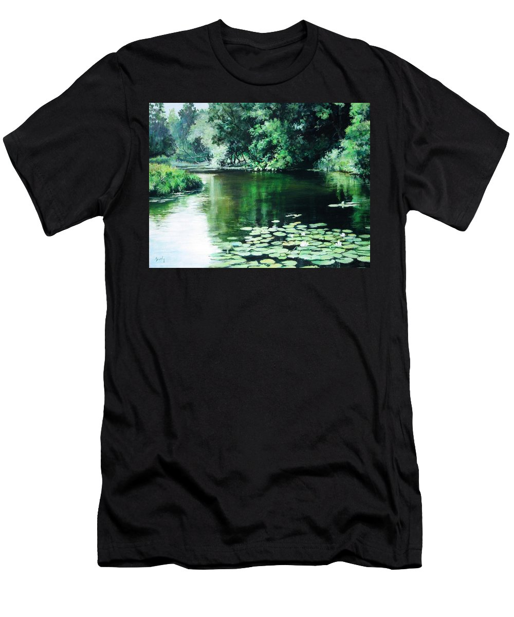 Landscape Men's T-Shirt (Athletic Fit) featuring the painting Their Spot by William Brody
