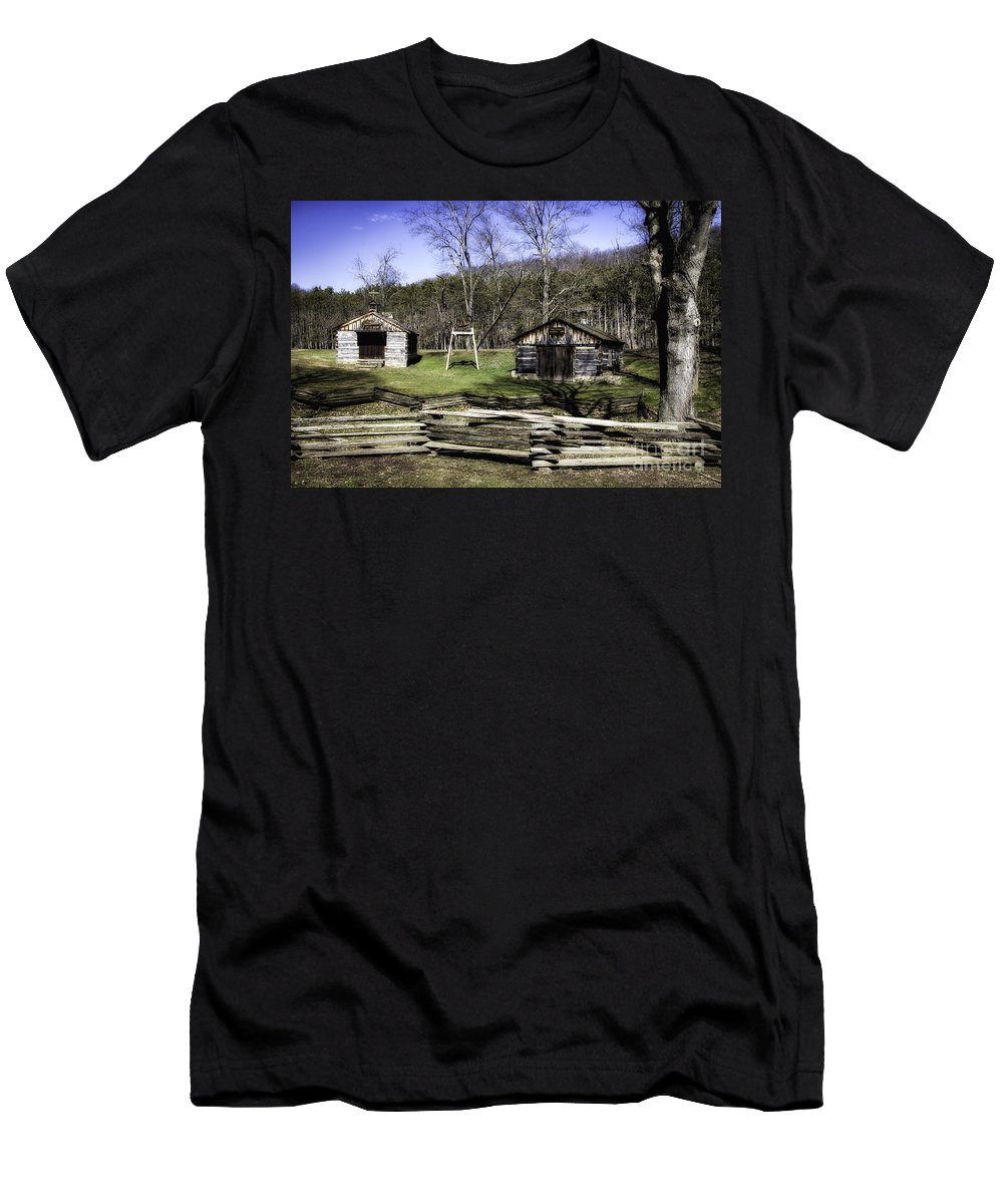 Shed Men's T-Shirt (Athletic Fit) featuring the photograph Theo Appleby Blacksmith by Timothy Hacker