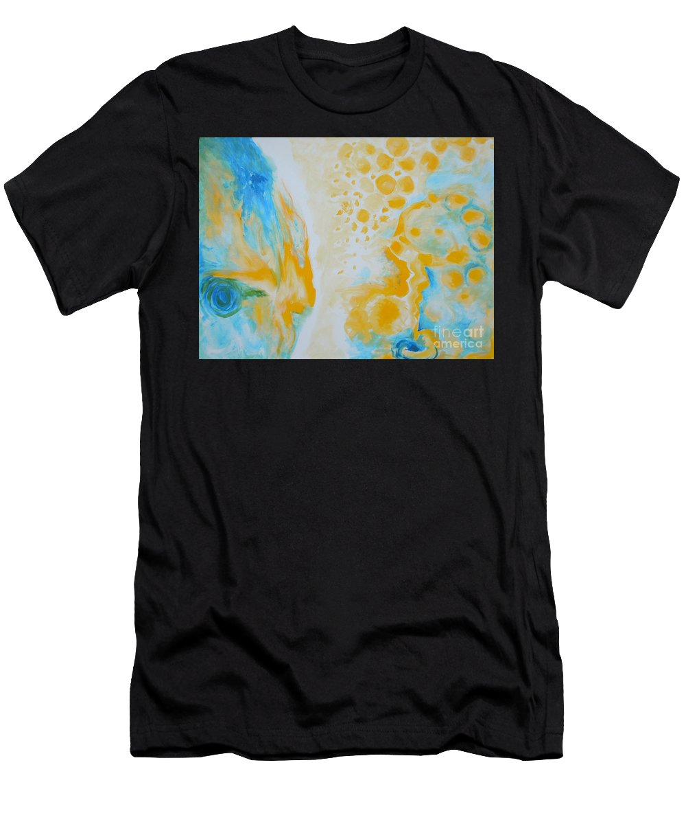 Circles Men's T-Shirt (Athletic Fit) featuring the painting There - Looking At Me by Tonya Henderson