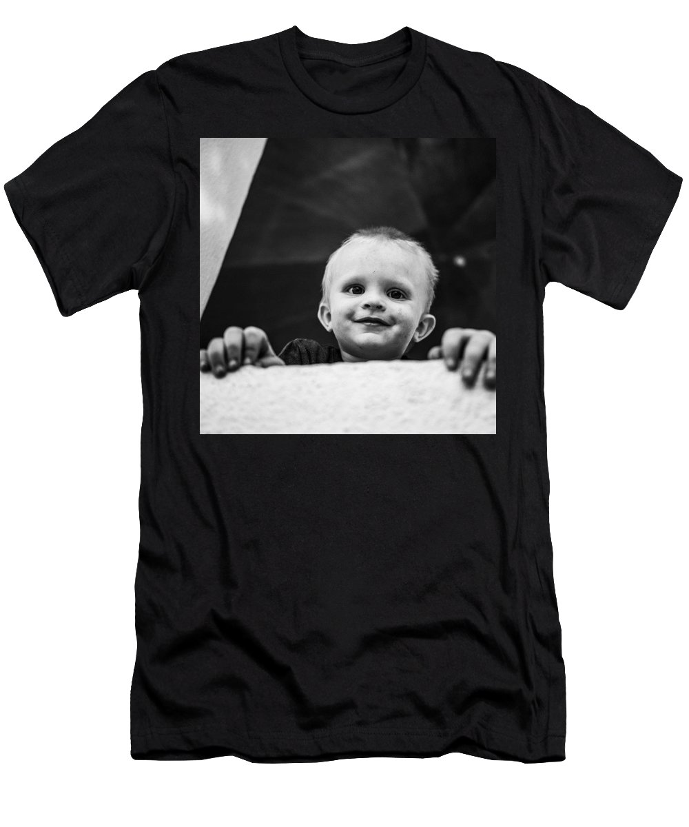 Boy Men's T-Shirt (Athletic Fit) featuring the photograph This Grubby Little Guy. In Africa The by Aleck Cartwright