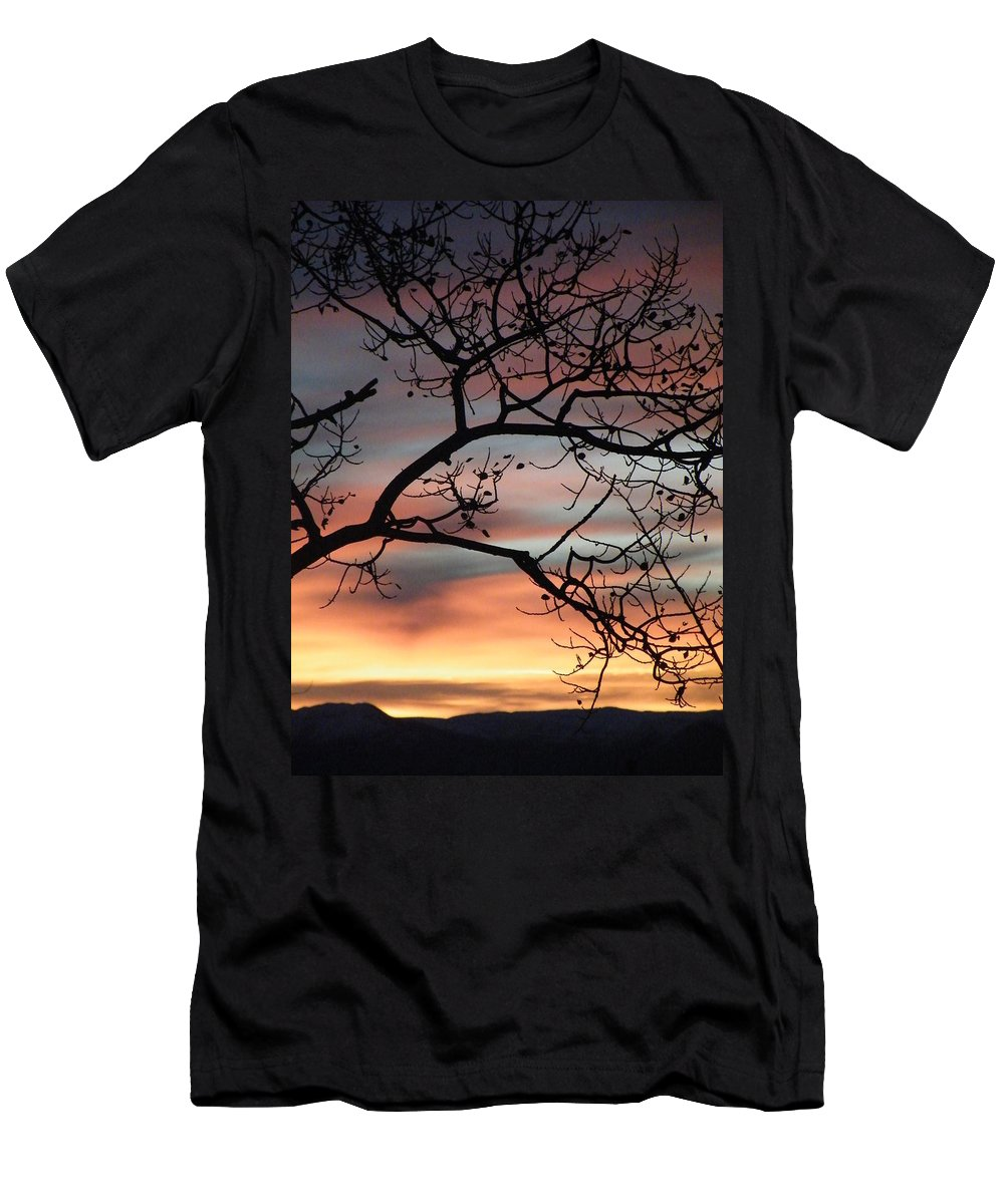 Sunrise Men's T-Shirt (Athletic Fit) featuring the photograph This Side Of The Night by Brian Boyle