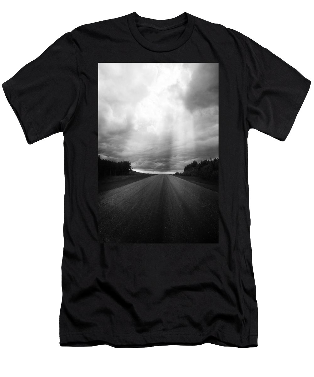 Road Men's T-Shirt (Athletic Fit) featuring the photograph This Way Comes by The Artist Project