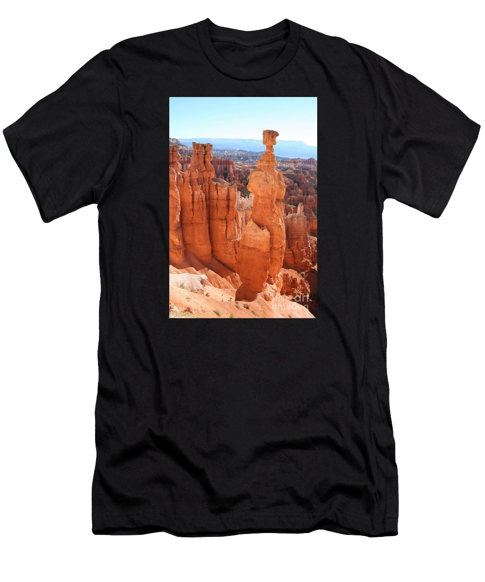 Canyon Men's T-Shirt (Athletic Fit) featuring the photograph Thors Hammer - Bryce Canyon by Christiane Schulze Art And Photography
