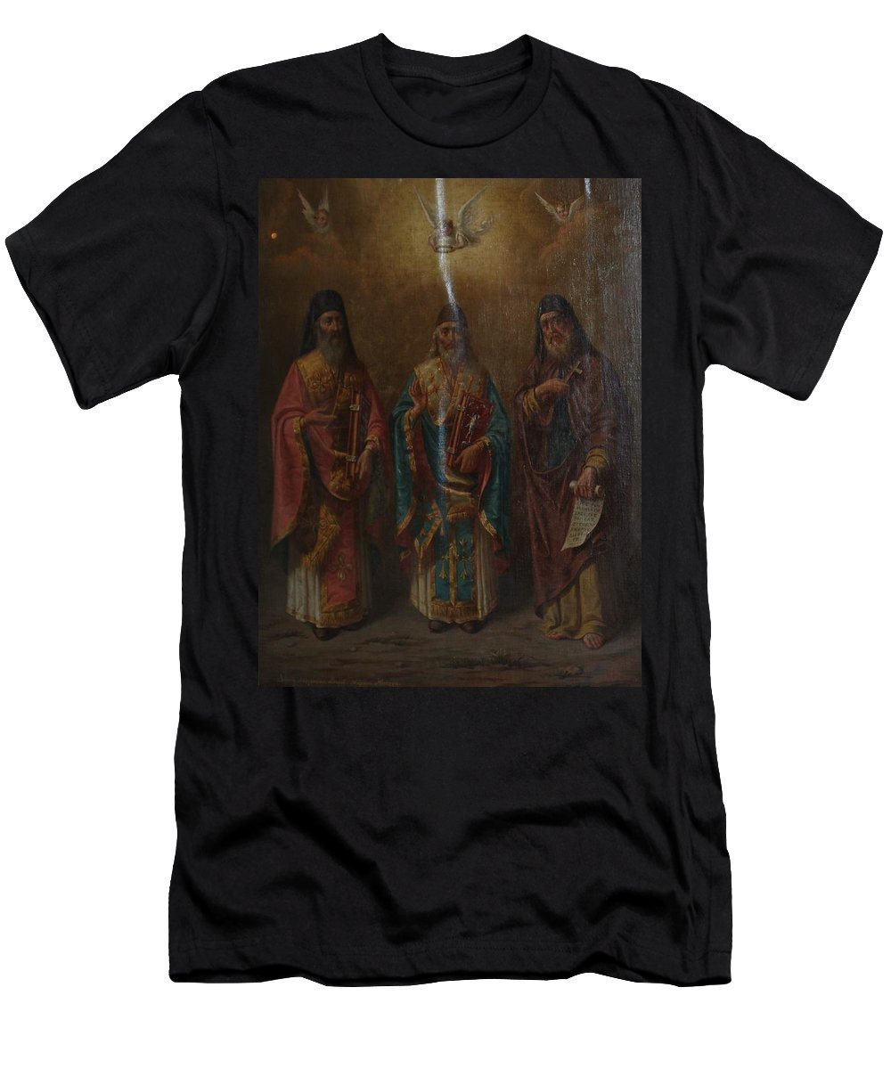 Three Saints Men's T-Shirt (Athletic Fit) featuring the photograph Three Saints by George Katechis