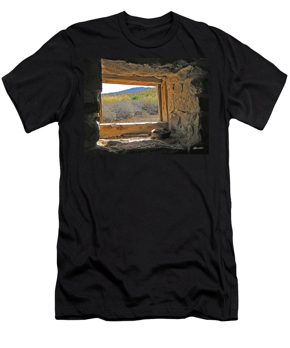Landscape Men's T-Shirt (Athletic Fit) featuring the photograph Through The Window by Stephanie Salter