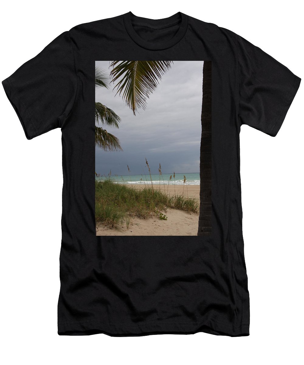 Beach Men's T-Shirt (Athletic Fit) featuring the photograph Thunderstorm Sky by Christiane Schulze Art And Photography