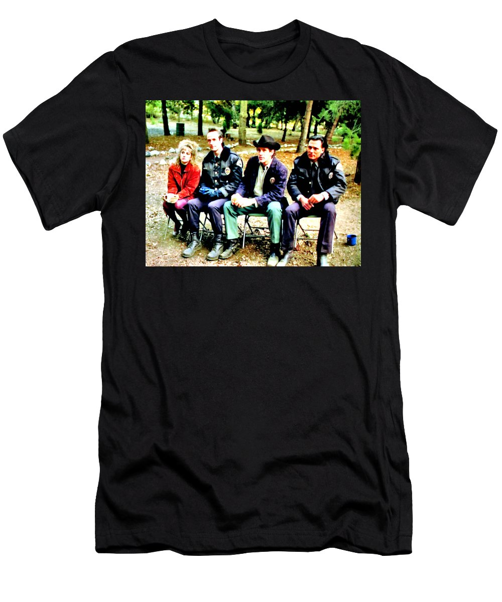Laura Palmer Men's T-Shirt (Athletic Fit) featuring the painting Tibet by Luis Ludzska