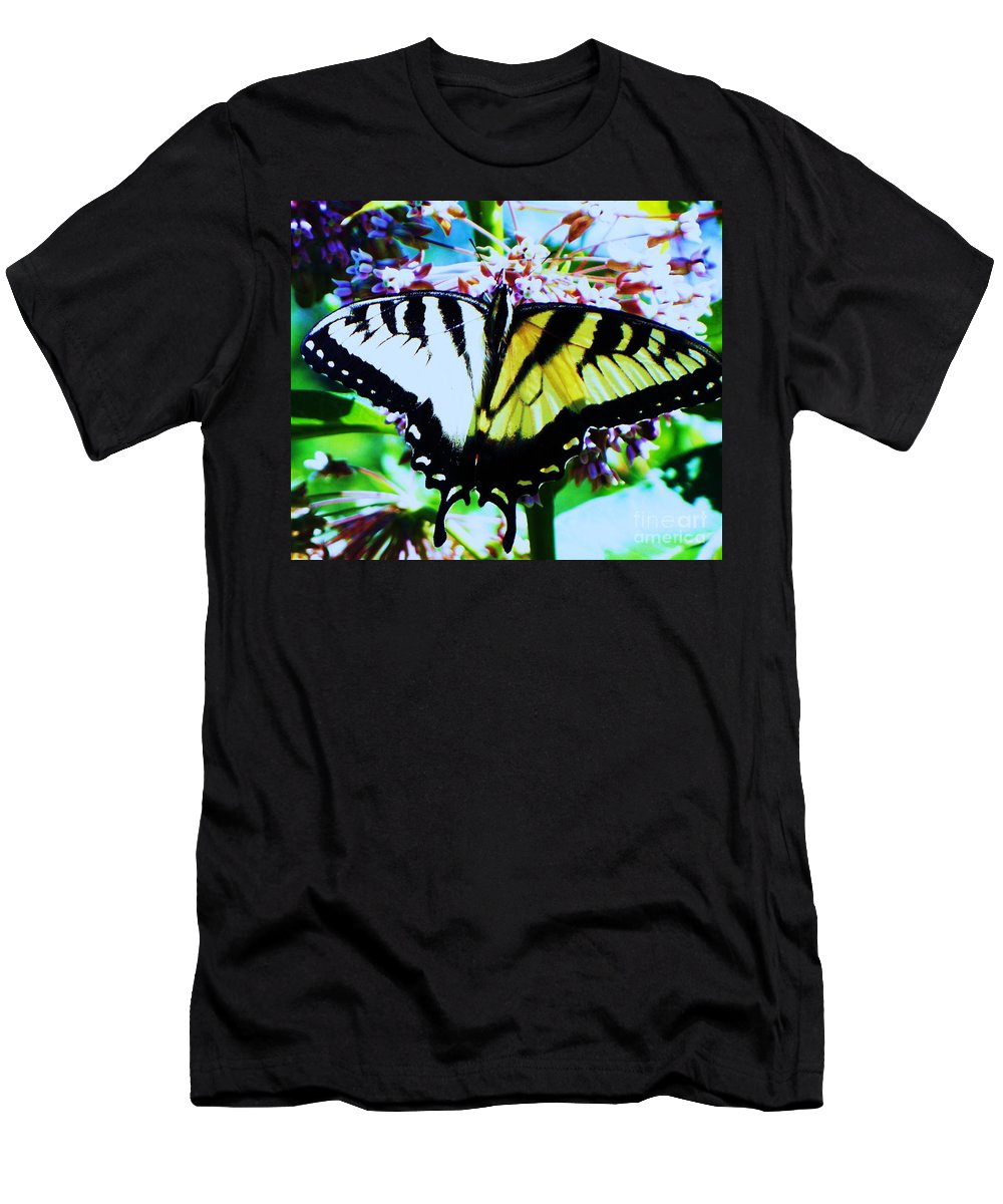 Butterfly Men's T-Shirt (Athletic Fit) featuring the photograph Tiger Swallowtail Butterfly by Eric Schiabor