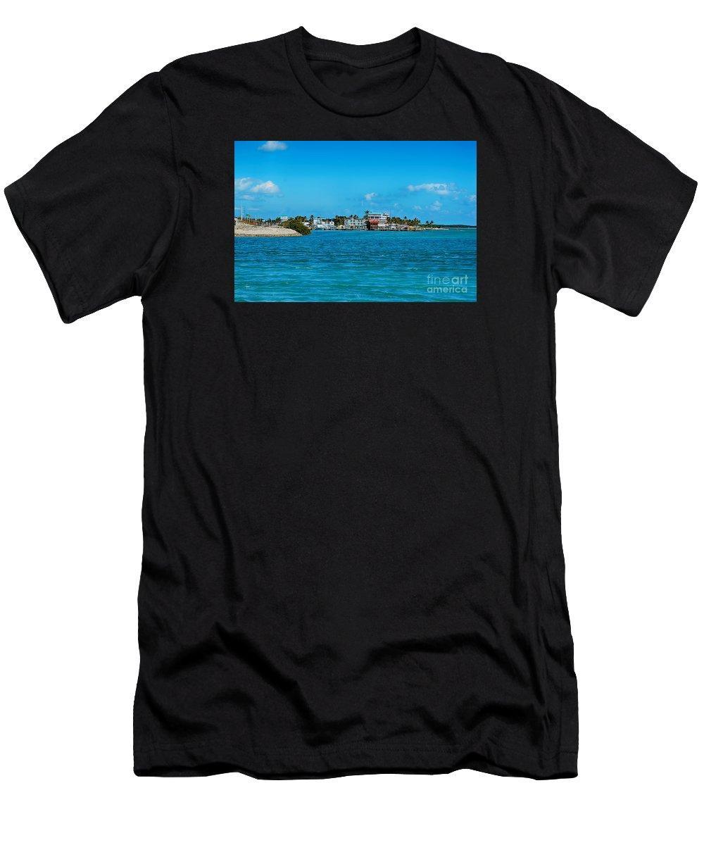 Tiki Bar Florida Keys Islamorada Men's T-Shirt (Athletic Fit) featuring the photograph Tiki Bar Islamorada by Chris Thaxter