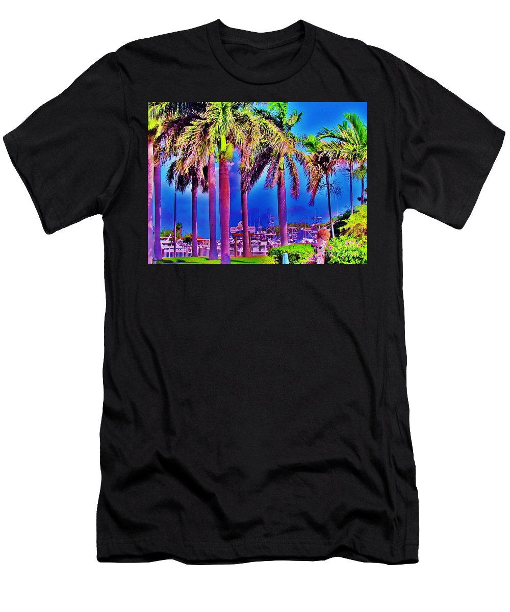Fort Pierce Men's T-Shirt (Athletic Fit) featuring the photograph Tiki Marina by Keri West