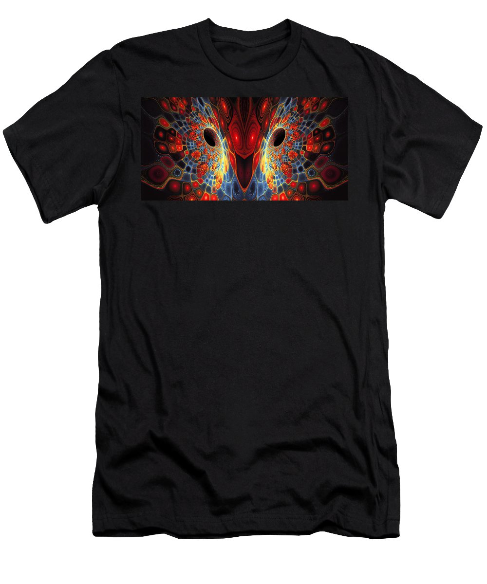 Colorful Bird Mask Men's T-Shirt (Athletic Fit) featuring the digital art Time For Expression by Richard Pennells