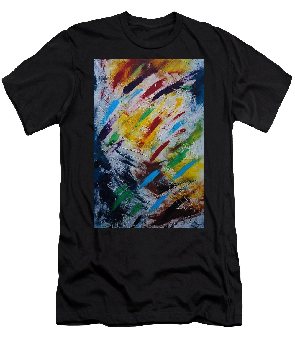 Abstract T-Shirt featuring the painting Time stands still by Sergey Bezhinets