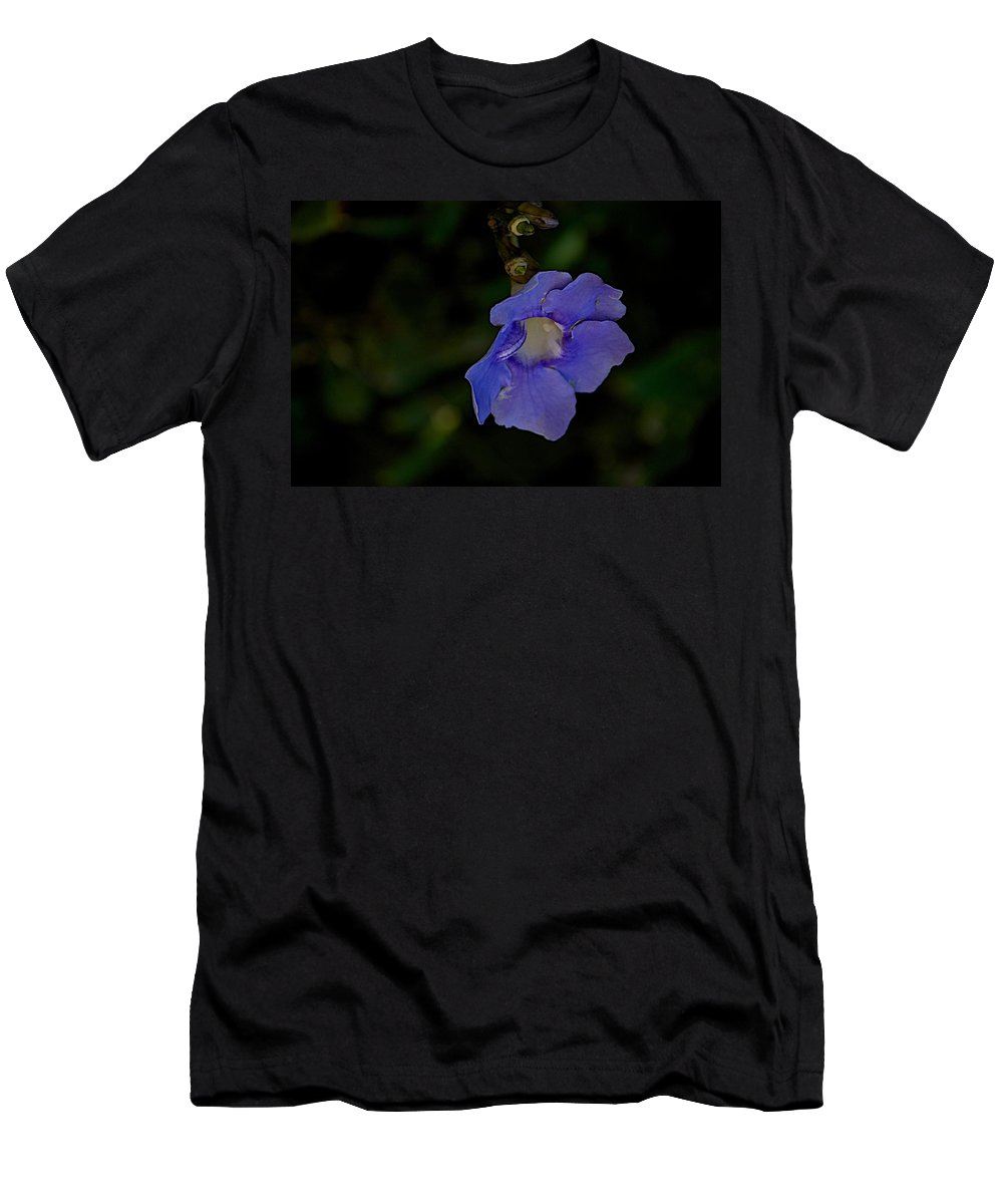 Flowers Men's T-Shirt (Athletic Fit) featuring the photograph Time To Go by Joseph Yarbrough
