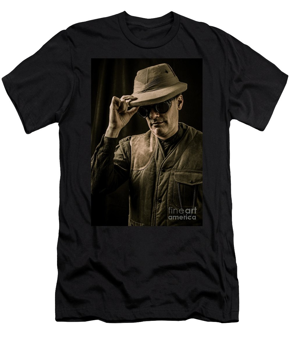 Pith Men's T-Shirt (Athletic Fit) featuring the photograph Time Traveler by Edward Fielding