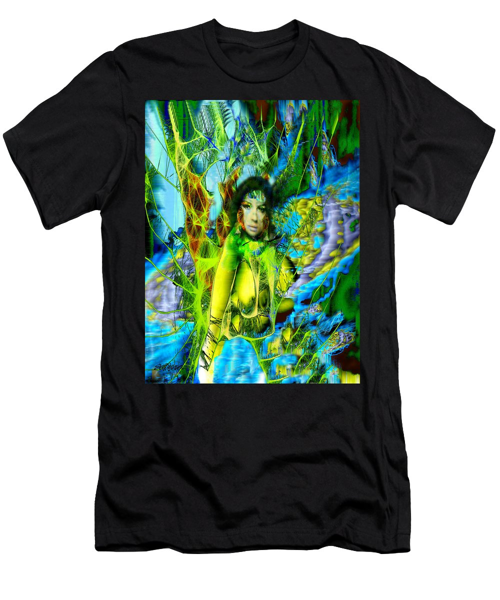 Titania Men's T-Shirt (Athletic Fit) featuring the digital art Titania-midsummers Night Dream by Seth Weaver