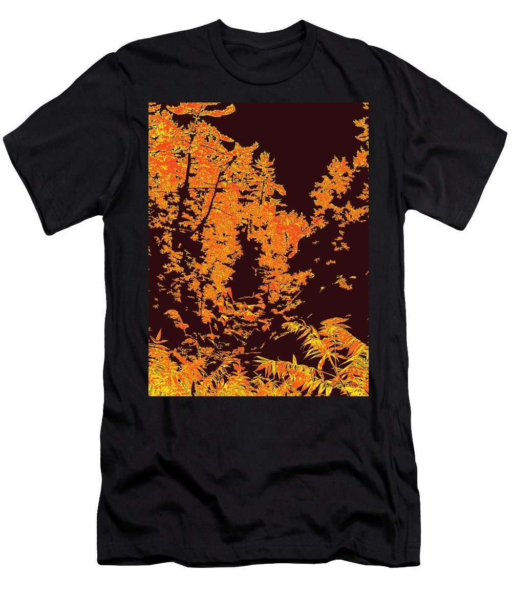 Woodland Men's T-Shirt (Athletic Fit) featuring the digital art Titian Woodland by Jo-Anne Gazo-McKim