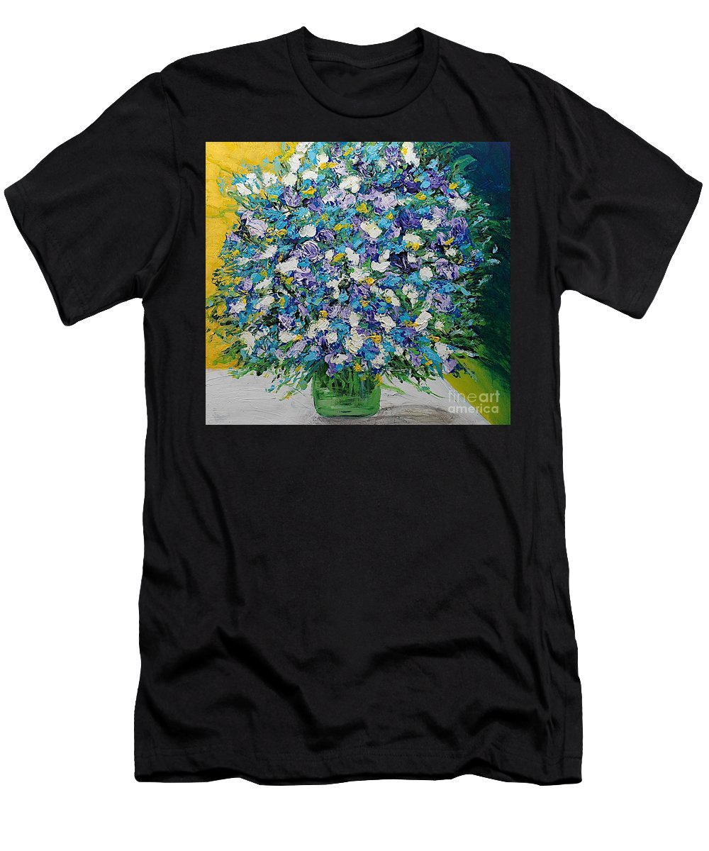 Landscape Men's T-Shirt (Athletic Fit) featuring the painting To Have And Delight by Allan P Friedlander