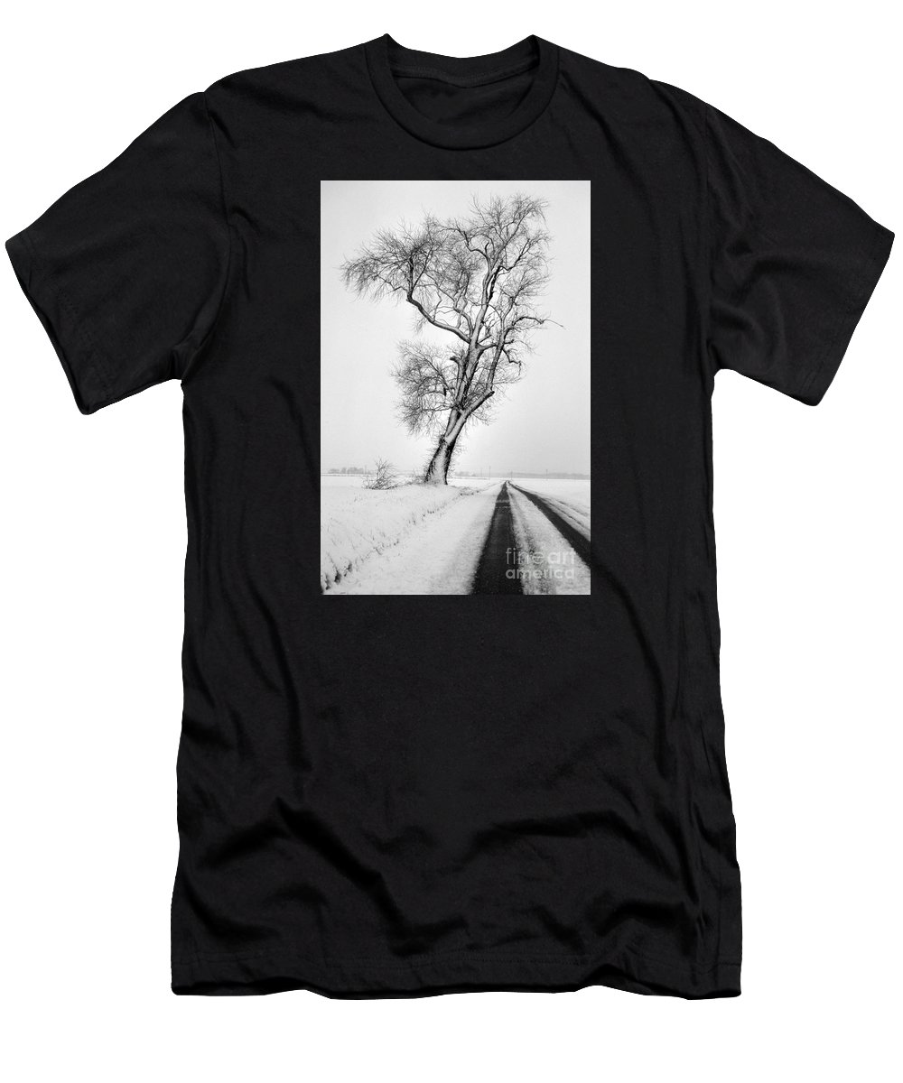 Nature Men's T-Shirt (Athletic Fit) featuring the photograph To The Other Side by Skip Willits