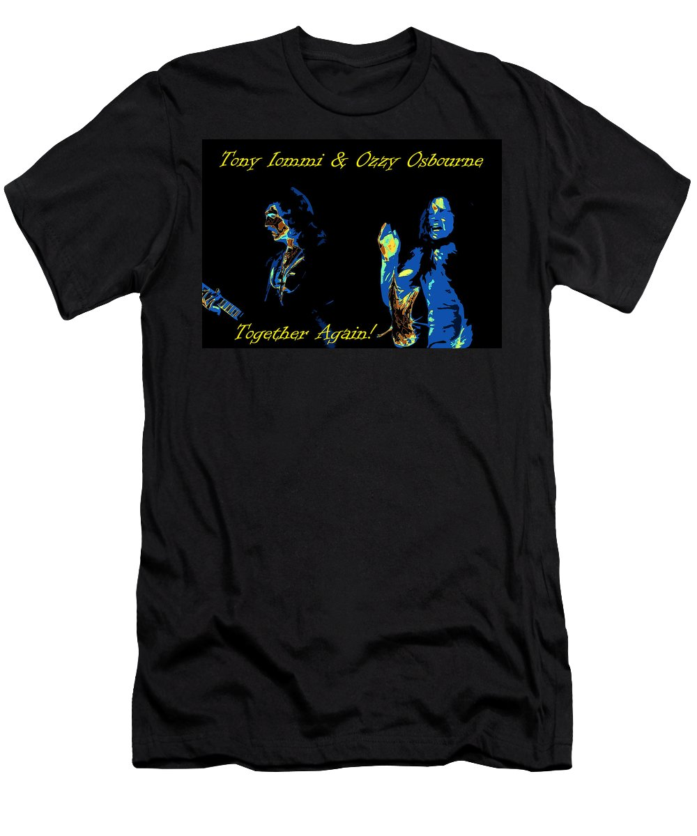 Tony Iommi Men's T-Shirt (Athletic Fit) featuring the photograph Together Again by Ben Upham