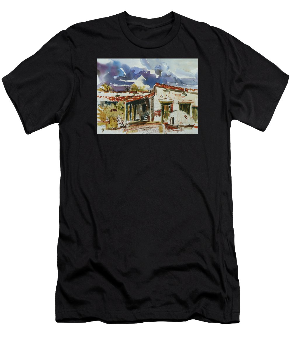 Landscape Men's T-Shirt (Athletic Fit) featuring the painting Tom Sparacino - Our Art Instructor by Xueling Zou