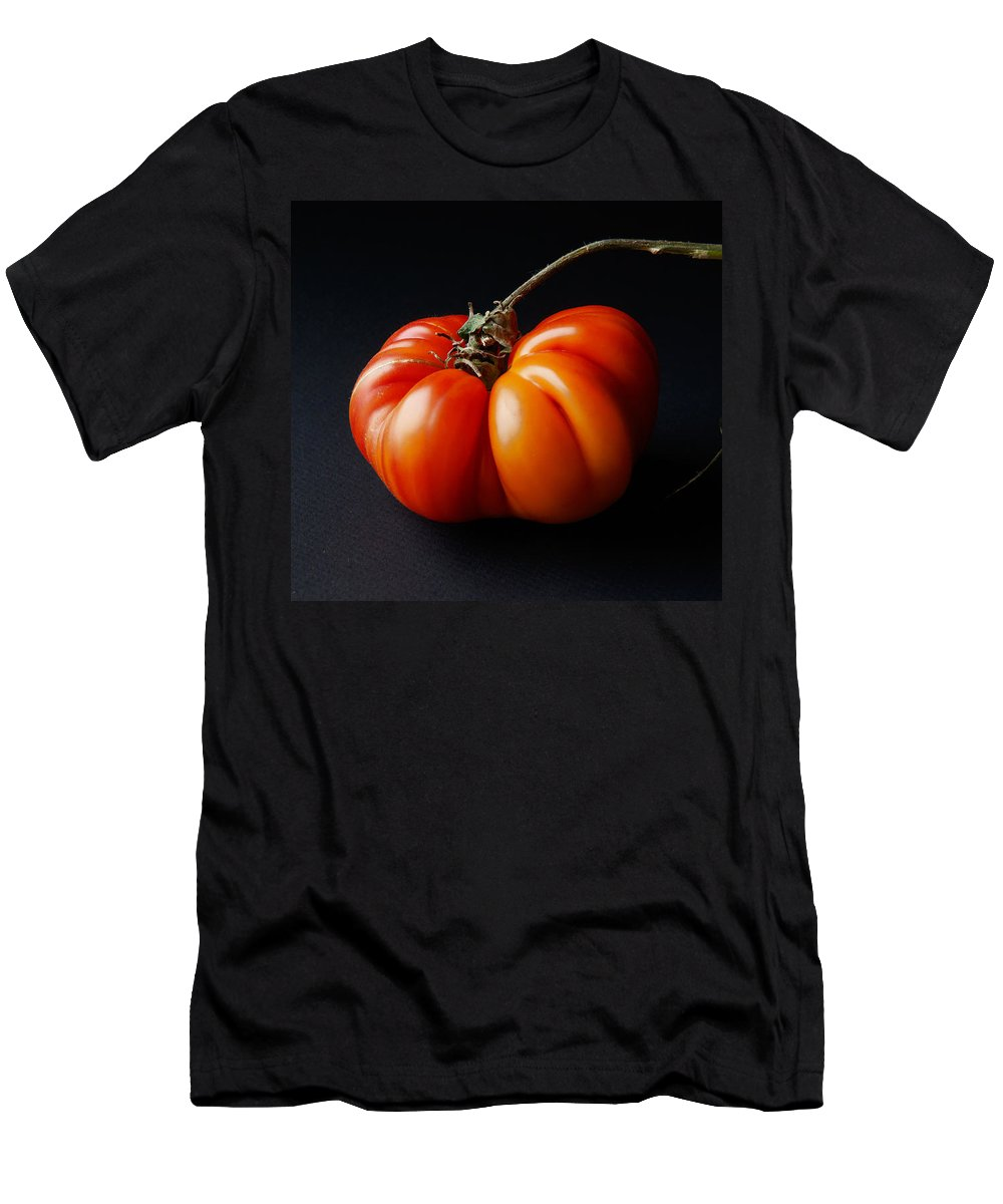 Tomato Men's T-Shirt (Athletic Fit) featuring the photograph Tomato by Daniel Furon