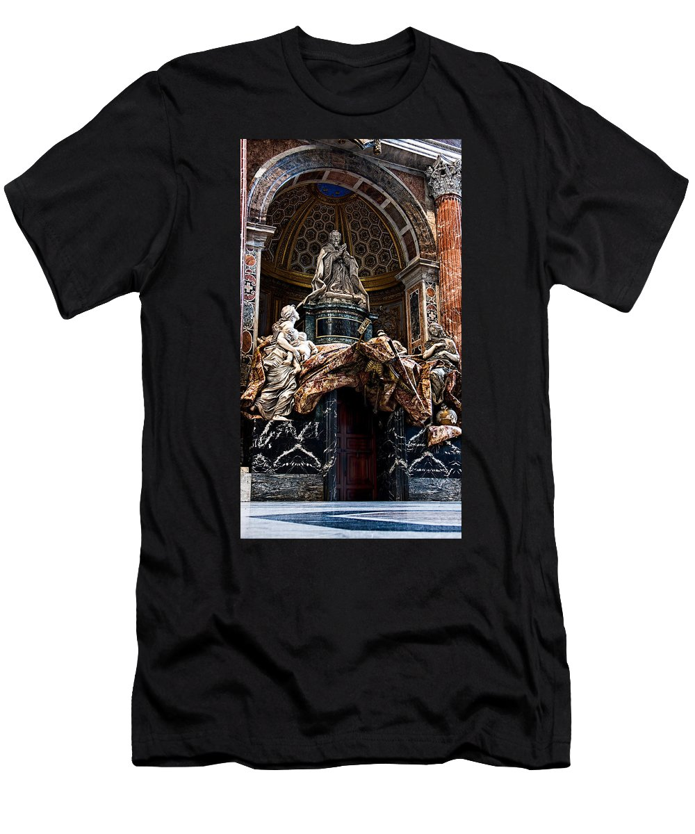 Tomb Men's T-Shirt (Athletic Fit) featuring the photograph Tomb Of Pope Alexander Vii By Bernini by Weston Westmoreland