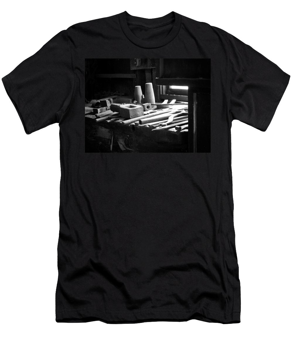 B&w Men's T-Shirt (Athletic Fit) featuring the photograph Tools Of The Trade by David Beebe