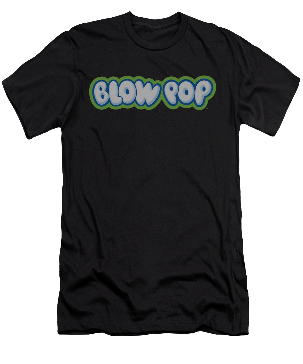 Tootsie Roll Men's T-Shirt (Athletic Fit) featuring the digital art Tootsie Roll - Blow Pop Logo by Brand A