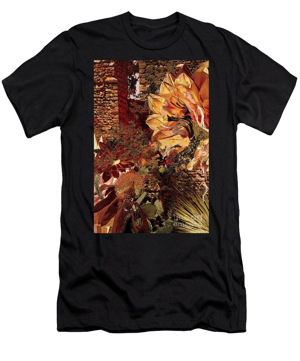 Torremolinos Men's T-Shirt (Athletic Fit) featuring the digital art Torremolinos Right by Paul Gentille
