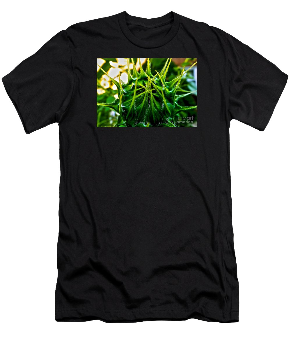 Sunflower Men's T-Shirt (Athletic Fit) featuring the photograph Total Eclipse Of The Sunflower by James Aiken