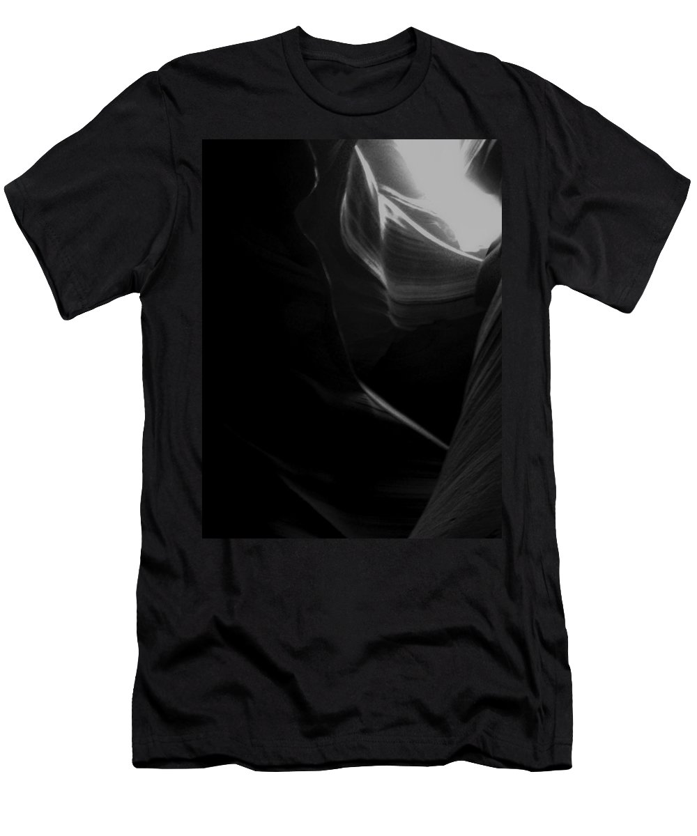 B&w Men's T-Shirt (Athletic Fit) featuring the mixed media Toward The Light by Lovejoy Creations