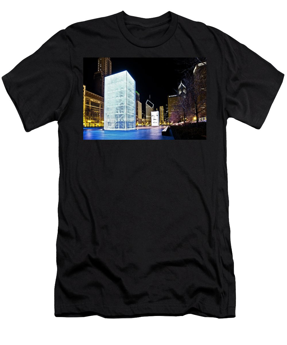 Www.cjschmit.com Men's T-Shirt (Athletic Fit) featuring the photograph Tower Blue by CJ Schmit