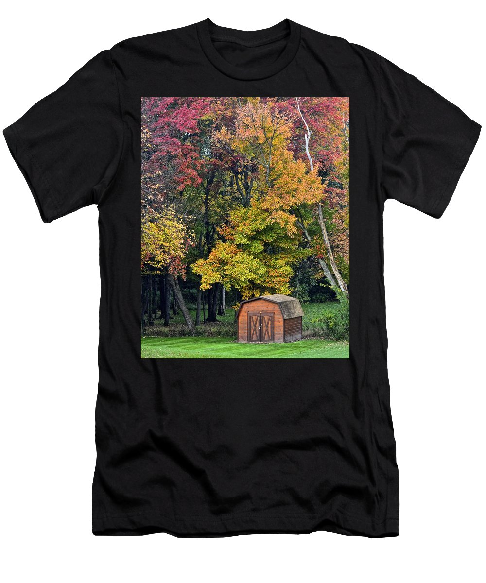 Amish Men's T-Shirt (Athletic Fit) featuring the photograph Toy Chest by Frozen in Time Fine Art Photography