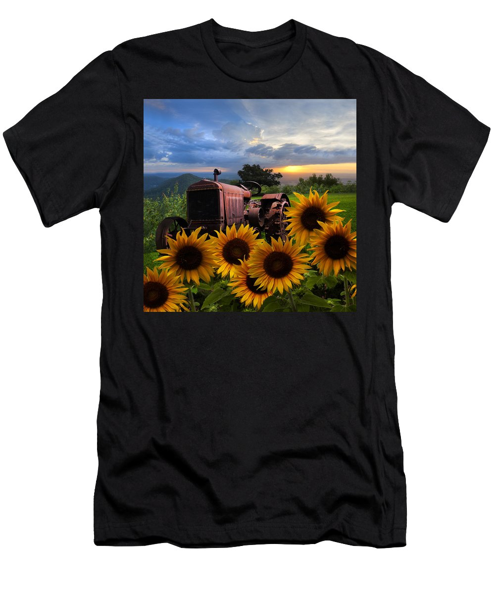 Appalachia Men's T-Shirt (Athletic Fit) featuring the photograph Tractor Heaven by Debra and Dave Vanderlaan