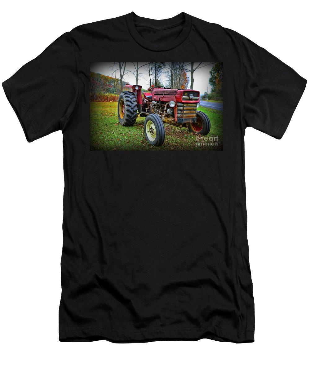 Paul Ward T-Shirt featuring the photograph Tractor - The Farmers Car by Paul Ward