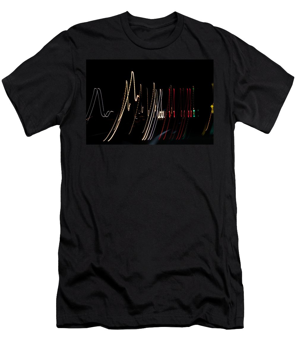 Light Painting Men's T-Shirt (Athletic Fit) featuring the photograph Traffic Lights by Allan Morrison